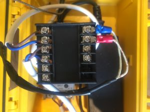 The wiring on the back of my PID control.
